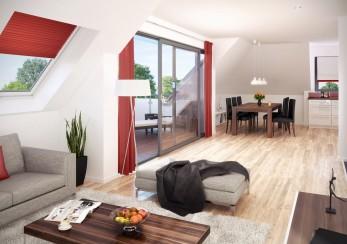 Architekturvisualisierung-Wohnzimmer