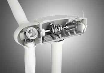 Technische-Visualisierung-Windkraftanlage