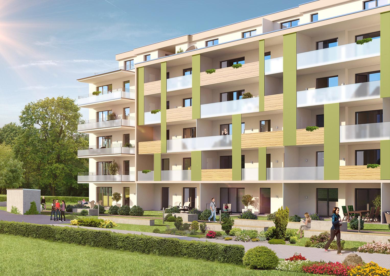 Architekturvisualisierung Schultheiss Wohnbau