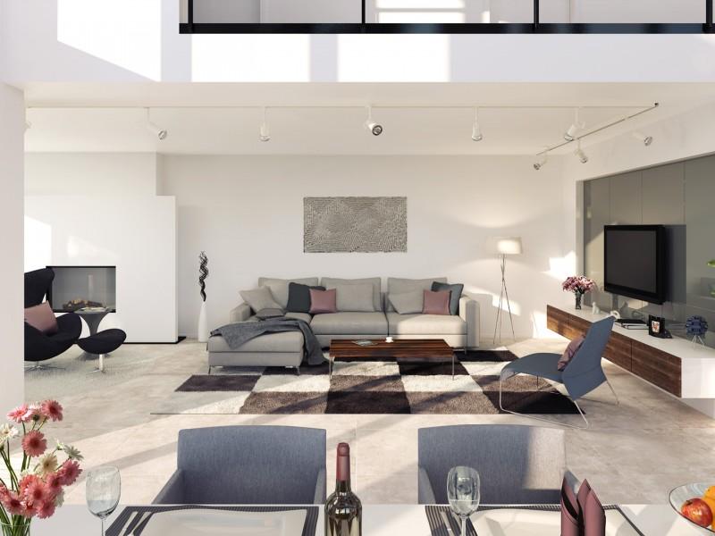 Architekturvisualisierung Wohnzimmer
