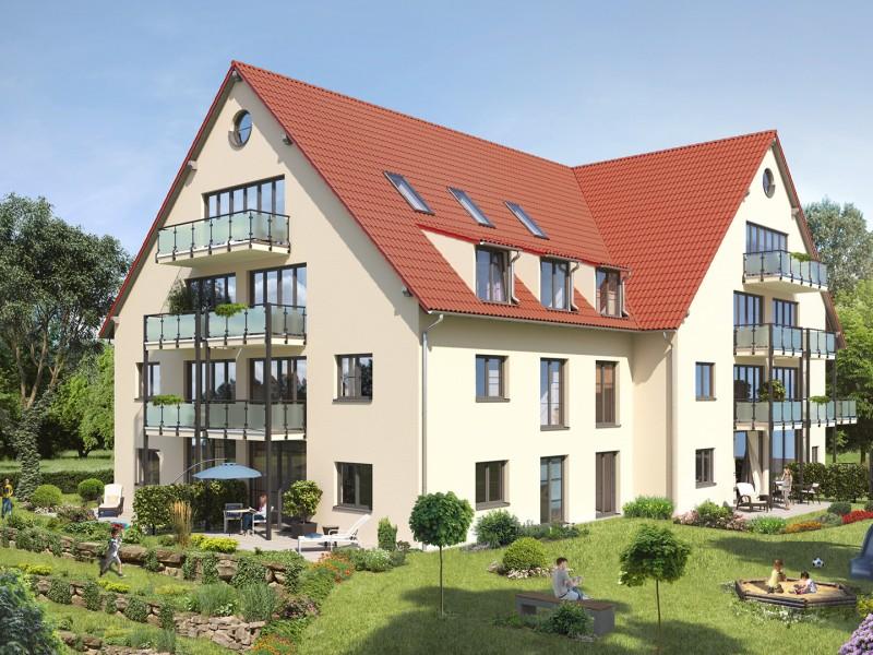 Rendering Mehrfamilienhaus