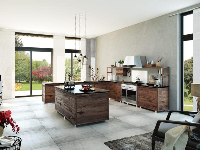 Architekturvisualisierung-Moderne-Kueche