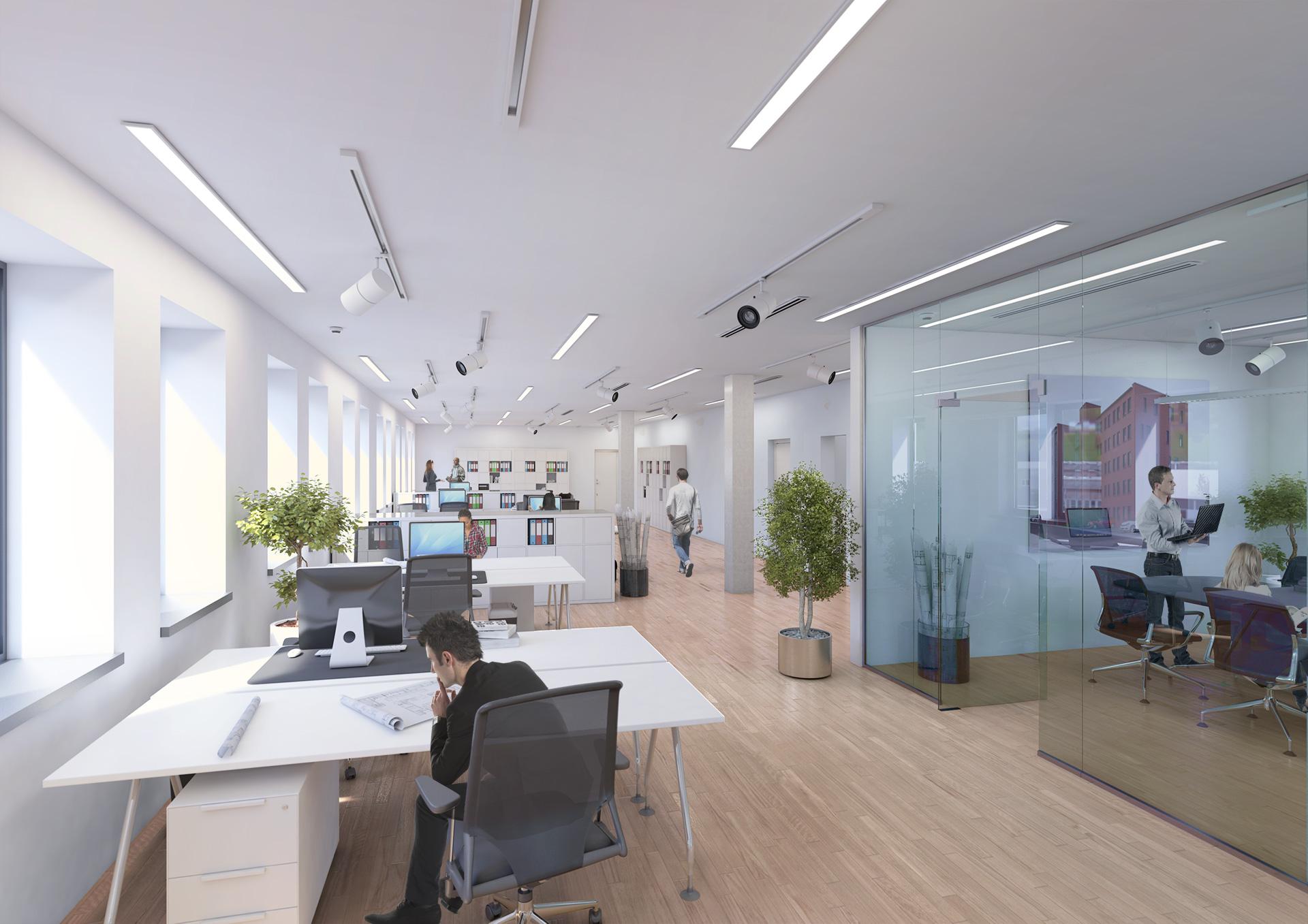 Architekturvisualisierung-Großraumbüro-001