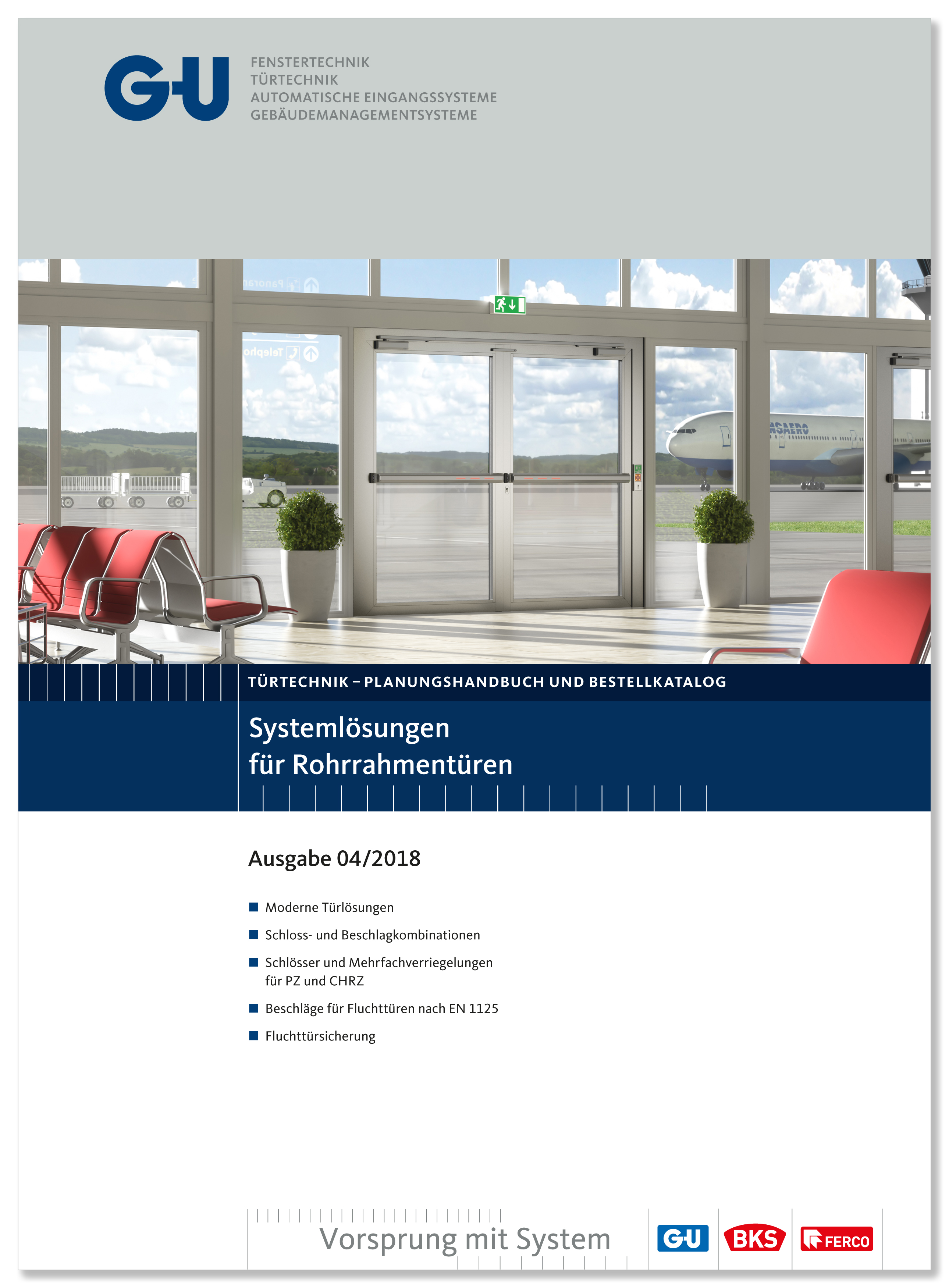 Katalog Titelblatt Fluchttüre Flughafen