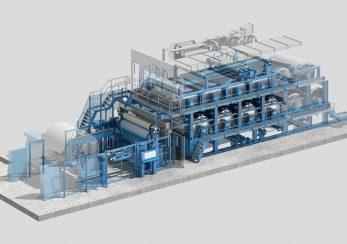 3D-Visualisierung einer Maschine der Papierindustrie