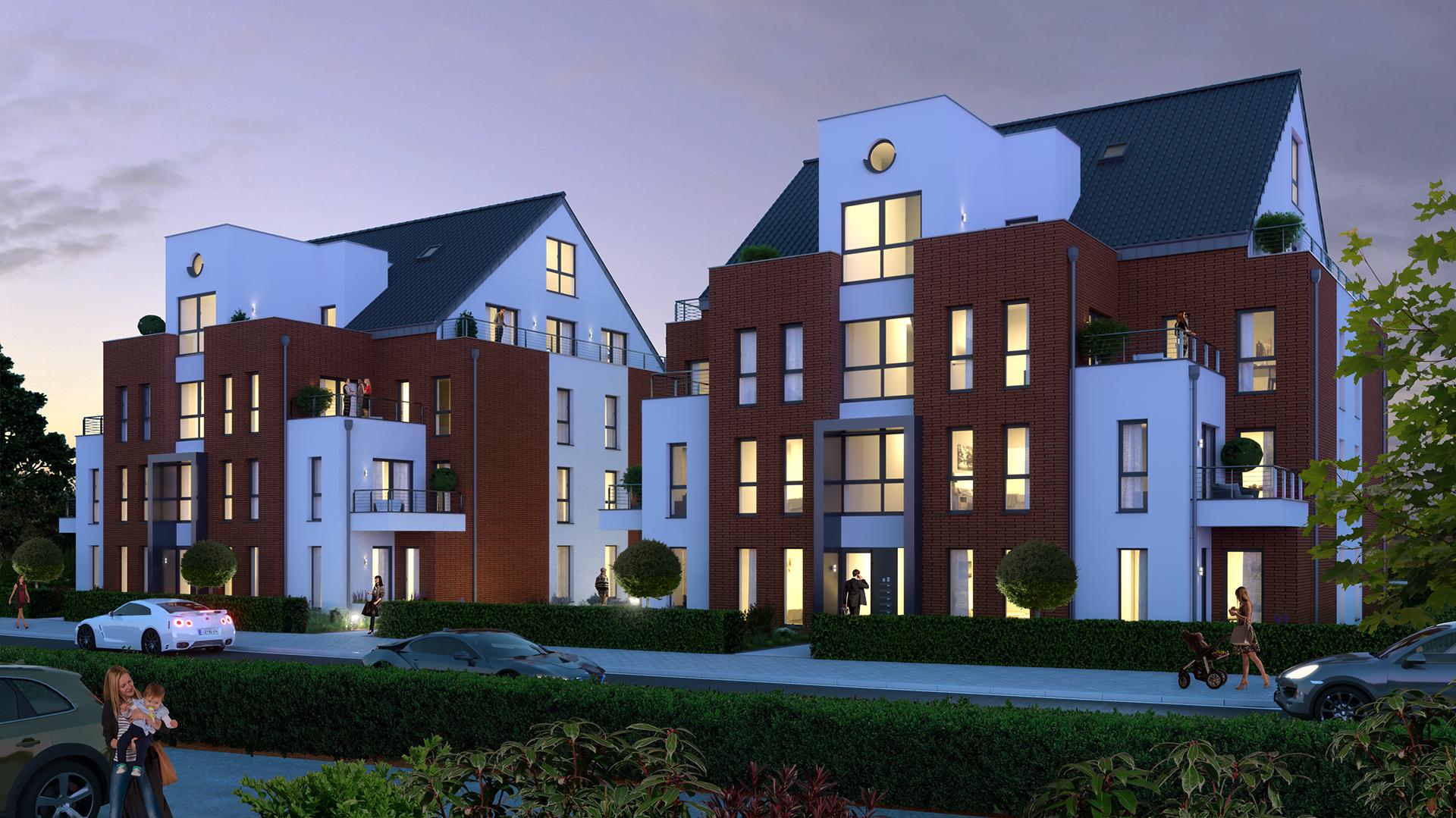 Mehrfamilienhaus Visualisierung
