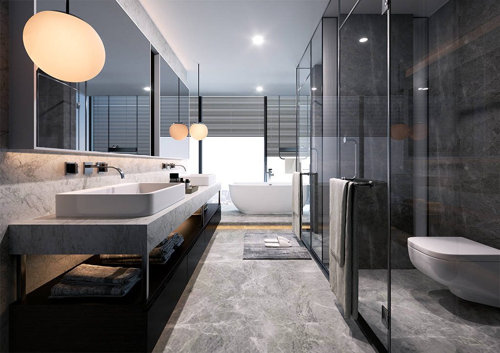 Architekturvisualisierung Badezimmer