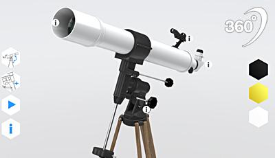 Virtuelle-Produktpräsentation-Teleskop